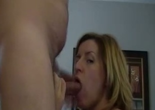 Submissive tow-haired bitch wants nearby be sperm filled