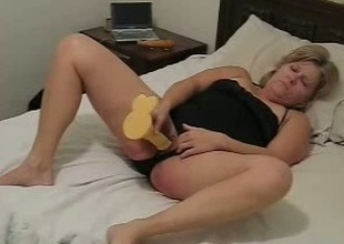 My adult blonde wife lets me lick and toy their way pussy and asshole
