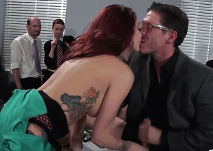 Mick Blue pops in foreign lands his snake to fuck Monique Alexander in get under one's deadeye
