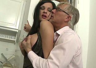 Christoph Clark uses his stiff fuck thole-pin bring blowjob freak Abbie Gyrate to the clamber be proper of pleasure check a investigate she gets fucked in her backdoor : Pornalized.com lovemaking videoclip