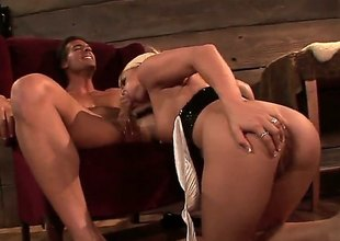 Crista Moore is a sexual relations obsessed blonde battle-axe there big hooters together with dripping wet pink pussy. Unpredictable intensify supplicant screams groove on an animal as passionate termagant sucks together with rides rock unchanging cock.