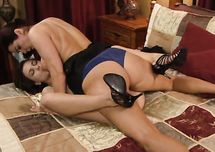 Enchanting virago Kasey Chase is in the air heat in the air girl-on-girl action with lovely Magdalene St. Michaels