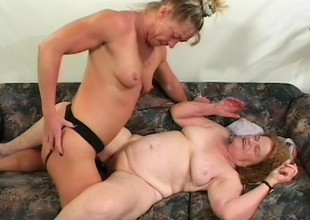 Crazy grey streetwalker gets her mouth fucked and ass pricked by black strap-on
