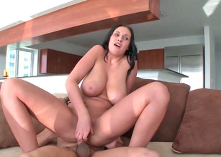 Horny milf Bella with big tits and pain in the neck gets screwed hard